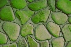 Muur van de achtergrond de bruine ufo groene textuur van blokken royalty-vrije stock foto's
