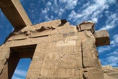 Muur van de antient tempel van Egypte Royalty-vrije Stock Afbeeldingen