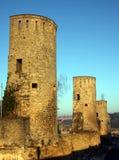 Muur van de de stadsdefensie van Luxemburg de oude Royalty-vrije Stock Foto