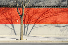 Muur van de Omheining van Peking de Rode Royalty-vrije Stock Afbeelding