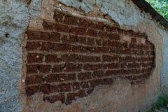 Muur van de oude close-up van het adobehuis royalty-vrije stock foto's