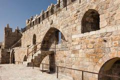 Muur van de oude stad van Jeruzalem Stock Afbeeldingen