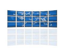 Muur van de schermen Royalty-vrije Stock Afbeeldingen