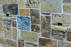 Muur van de steen Multicolored Tuin Royalty-vrije Stock Fotografie