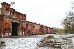 Muur van de Vesting van Brest in Brest Stock Afbeeldingen