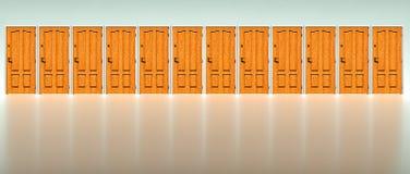 Muur van deuren stock illustratie