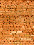 Muur van een baksteen in een het hellen zonlicht Royalty-vrije Stock Afbeelding