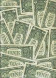 Muur van een dollarbankbiljetten Stock Afbeelding
