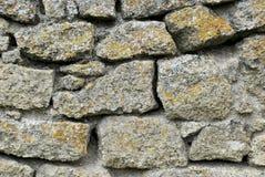 Muur van een oud kasteel Stock Foto's