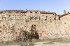Muur van een oud kasteel Royalty-vrije Stock Afbeelding