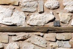 Muur van een traditioneel Bulgaars huis Stock Foto