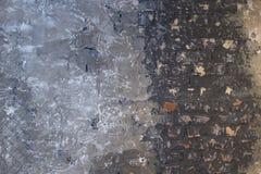 Muur van een verscheidenheid van oude en vuile baksteen Stock Foto