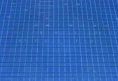 Muur van een wolkenkrabber Stock Afbeelding