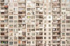 Muur van flatgebouw stock fotografie