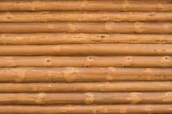 Muur van gehakt hout. Stock Foto