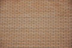 Muur van gele baksteen Royalty-vrije Stock Afbeeldingen