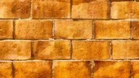 Muur van gele bakstenen Achtergrond Tekening Royalty-vrije Stock Foto's