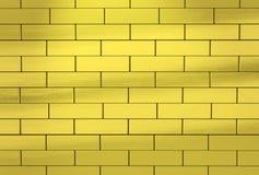 Muur van gouden bakstenen wordt gemaakt die abstracte achtergrond vector illustratie