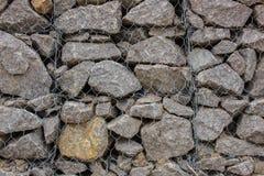 Muur van granietstenen Stock Afbeeldingen