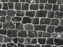 Muur van grijs-groene steen Stock Fotografie