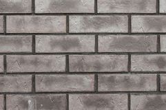 Muur van grijze bakstenen Royalty-vrije Stock Foto's