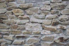 Muur van grijze steen Royalty-vrije Stock Foto's