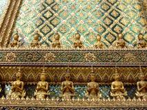 Muur van het Grote paleis, Bangkok, Thailand. Stock Foto's