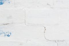 Muur van het Grunge de concrete cement met barst stock foto