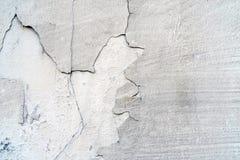 Muur van het Grunge de concrete cement met barst in de industri?le bouw royalty-vrije stock foto