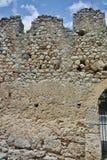 Muur van het kasteel van Lamia City Stock Foto's