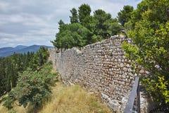 Muur van het kasteel van Lamia City Stock Foto