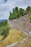 Muur van het kasteel van Lamia-stad Stock Afbeelding