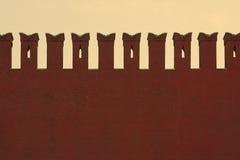 Muur van het Kremlin Royalty-vrije Stock Foto's