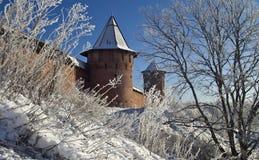 Muur van het oude klooster. Royalty-vrije Stock Foto's