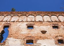 Muur van het oude middeleeuwse kasteel royalty-vrije stock foto