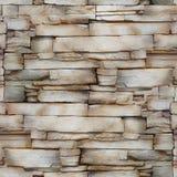 Muur van het zandsteen - decoratief patroon - naadloze achtergrond Stock Foto's