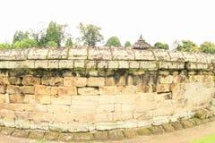Muur van Hindoese tempel Sambisari royalty-vrije stock foto's
