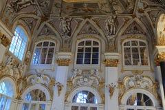 Muur van hoofdtrap van het Paleis van de Winter Stock Foto
