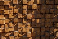 Muur van houten bars royalty-vrije stock afbeeldingen