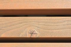 Muur van houten bars Royalty-vrije Stock Foto