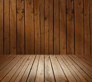 Muur van houten planken wordt gemaakt die Stock Afbeelding