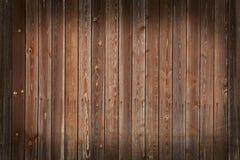 Muur van houten raad met vignet Stock Afbeelding