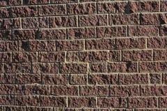 Muur van huis dat van decoratieve steen wordt gemaakt Stock Foto's