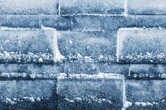 Muur van ijsblokjes als textuur of achtergrond Stock Afbeelding