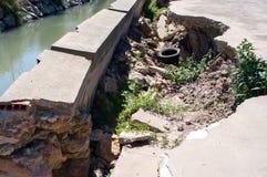Muur van irrigatiesloot Royalty-vrije Stock Foto's