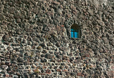 Muur van kasteel Stock Afbeelding