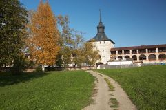 Muur van kirillo-Belozerskij klooster, Rusland Royalty-vrije Stock Foto's