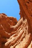 Muur van klei in canion Stock Foto's