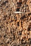 Muur van logboeken Stock Afbeelding