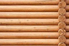 Muur van logboeken stock foto